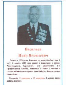 Васильев Иван Яковлевич