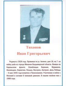 Тихонов Иван Григорьевич