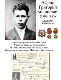 Африн Григорий Кононович
