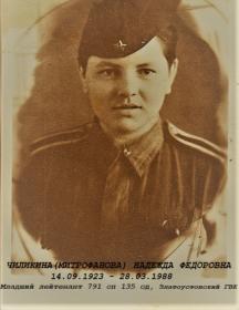 Чиликина Надежда Федоровна