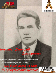 Новиков Дмитрий Дмитриевич
