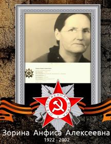 Зорина Анфиса Алексеевна