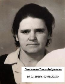 Панасенко Таиса Андреевна