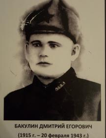 Бакулин Дмитрий Егорович