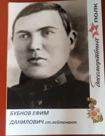 Бубнов Ефим Данилович