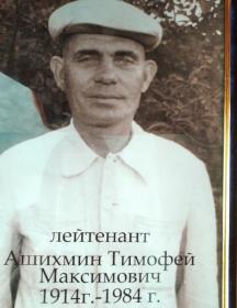 Ашихмин Тимофей Максимович