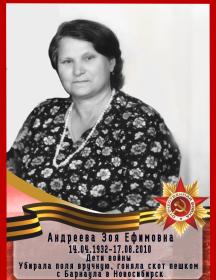 Андреева Зоя Ефимовна