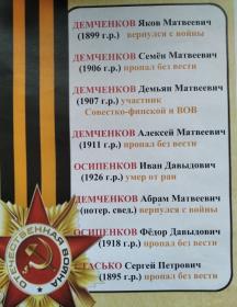 Демченков Демьян Матвеевич