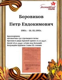 Боровиков Петр Евдокимович