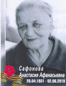 Сафонова Анастасия Афанасьевна