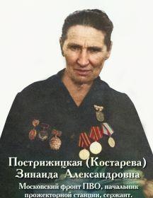 Костарева (Пострижицкая) Зинаида Александровна