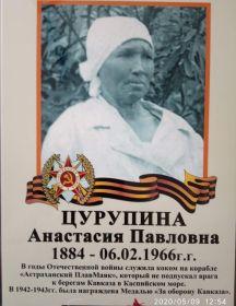 Цурупина Анастасия Павловна