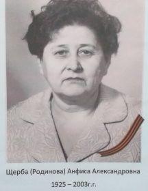 Щерба (Родинова) Анфиса Александровна