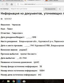 Черкасов Павел Гаврилович