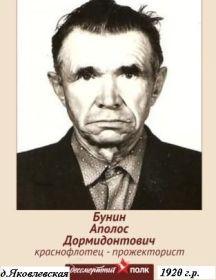 Бунин Аполос Дормидонтович