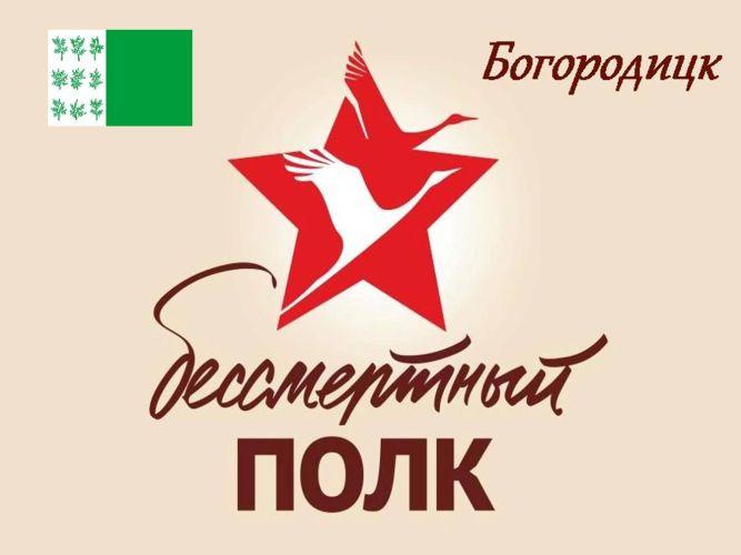 Формирование колонны Бессмертного полка в Богородицке 9 мая 2019 года