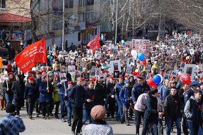 Городская акция «Знамя памяти Анжеро-Судженска»