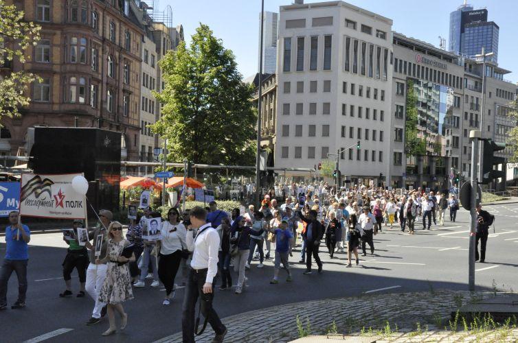 6 мая 2018 года  во второй раз прошел Бессмертный полк по улицам Франкфурта-на-Майне