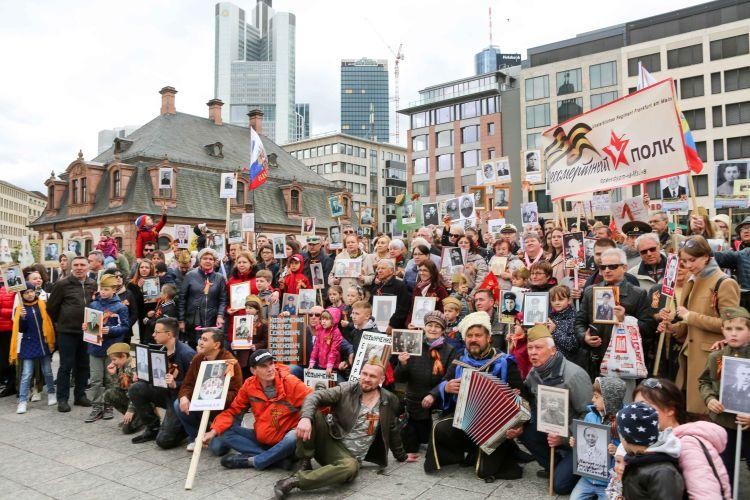 5 мая 2019 года состоялось третье шествие Бессмертного полка во Франкфурте-на-Майне