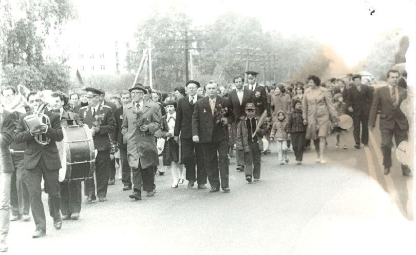 Торжественное шествие 9 мая 1986 года, Чулковская школа №20, Раменский район.