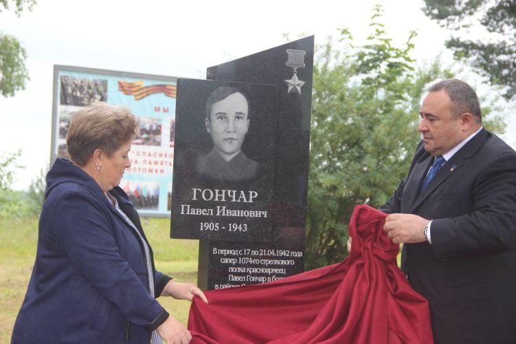 В Свирьстрое открыли памятник герою свирского рубежа