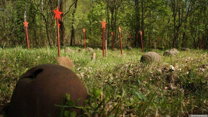 В Краснодарском крае захоронили останки 39 красноармейцев