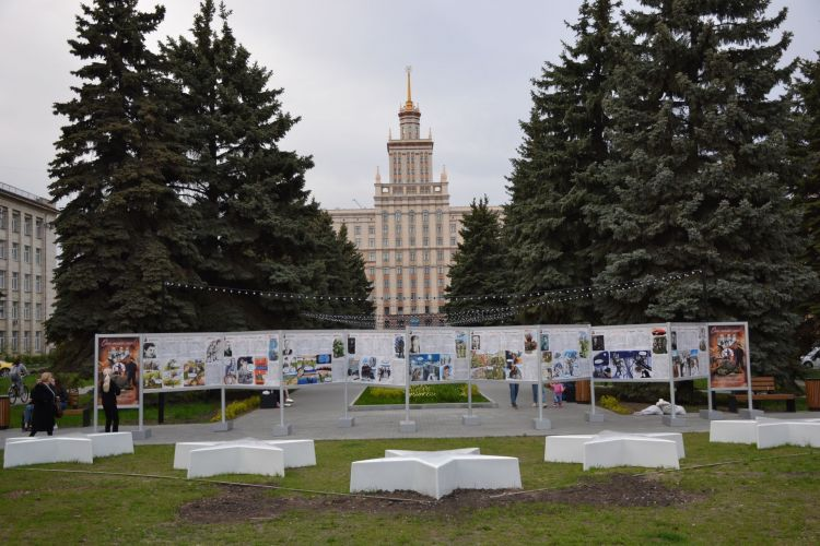 В Челябинске открылась обновленная выставочная экспозиция Урало-Сибирского Дома Знаний, посвященная Дню Победы