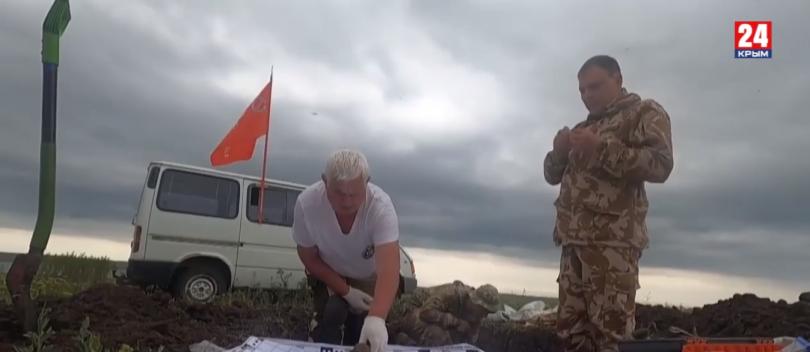 Поисковики обнаружили останки солдат стрелковой дивизии Красной армии