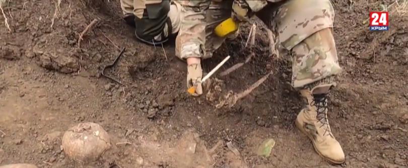 В Крыму поисковики нашли останки солдат Красной армии