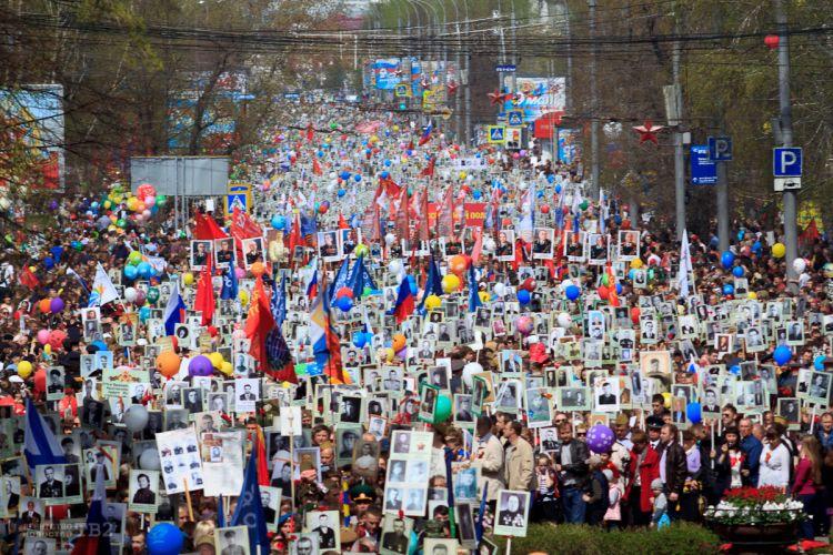 В томском Бессмертном полку прошагали более 30 тысяч человек