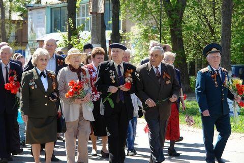 Бессмертный полк в Киреевском районе в 2016 году