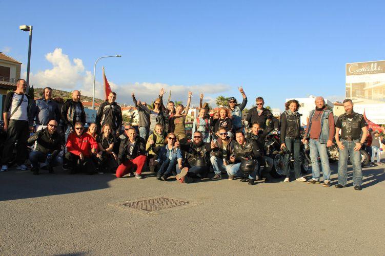 Мотопробег на Кипре,посвященный 9 мая, Лимассол, 7 мая 2016г.