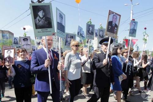 Губернатор принял участие в шествии «Бессмертного полка» в Пензе