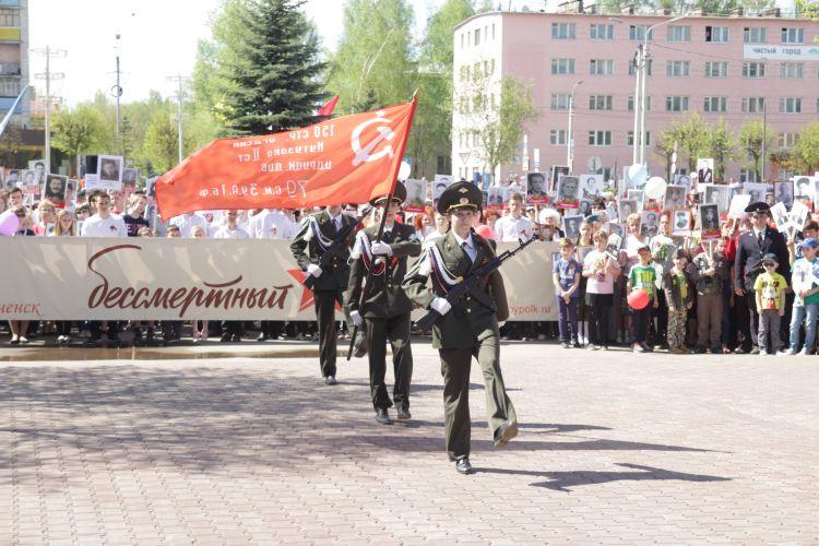 Шествие Бессмертного полка в Волгореченске