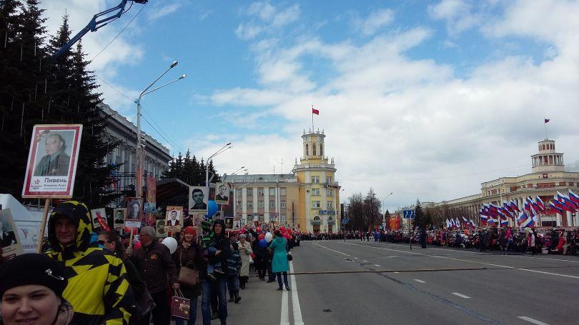 В Кемерове в ряды Бессмертного полка встали более 16 тысяч человек