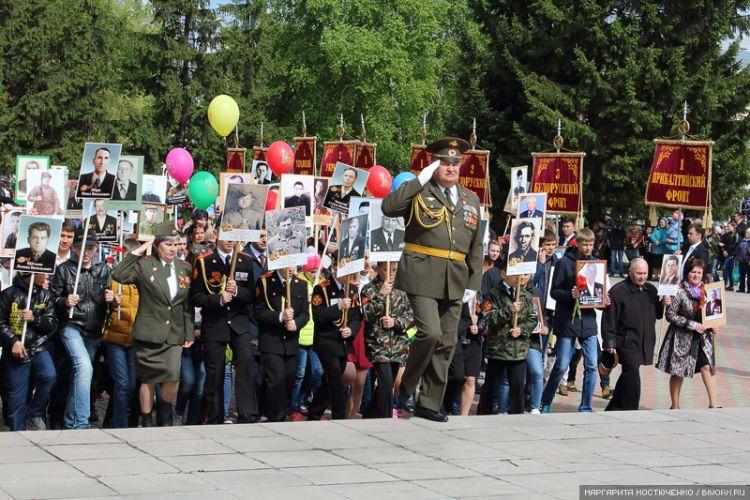 Три тысячи бийчан встали 9 мая в колонну «Бессмертного полка»