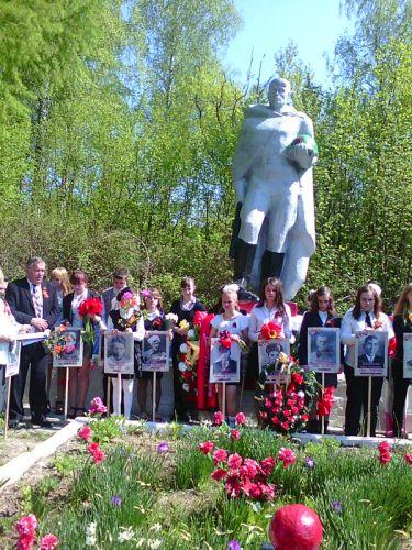 В Белевском районе в деревне Новая Велична прошел Бессмертный полк