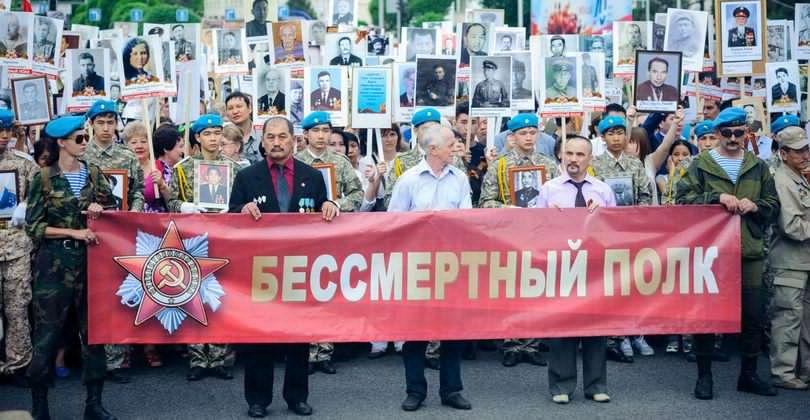 Дата и время построения Бессмертого полка Алматы