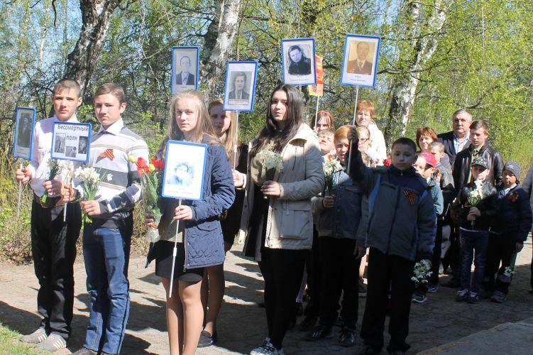 Бессмертный полк в Оленьково