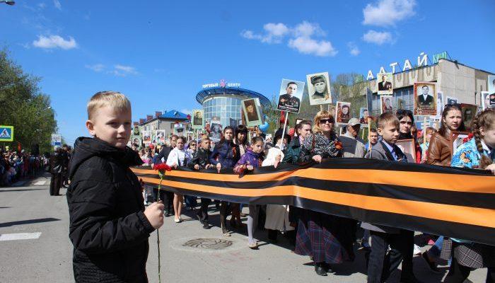 12 тысяч бийчан встали в День Победы в колонну «Бессмертного полка»