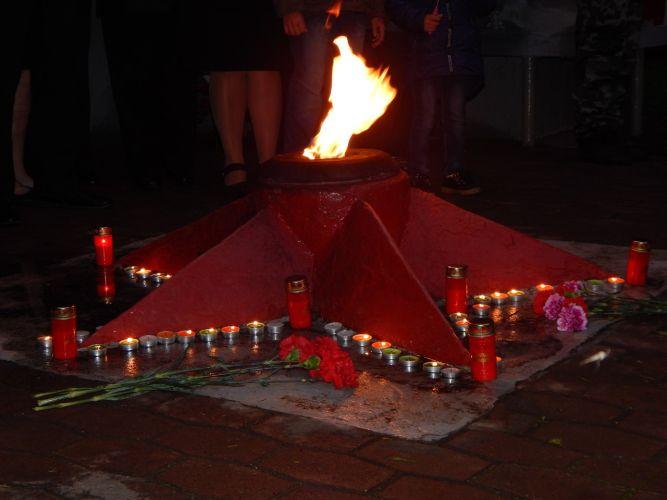 В Чагоде состоялась акция «Свеча памяти»