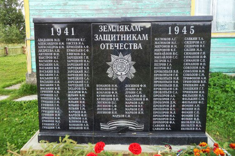 ГЕРОЯМ - ЗЕМЛЯКАМ  (д. Григорьевская)