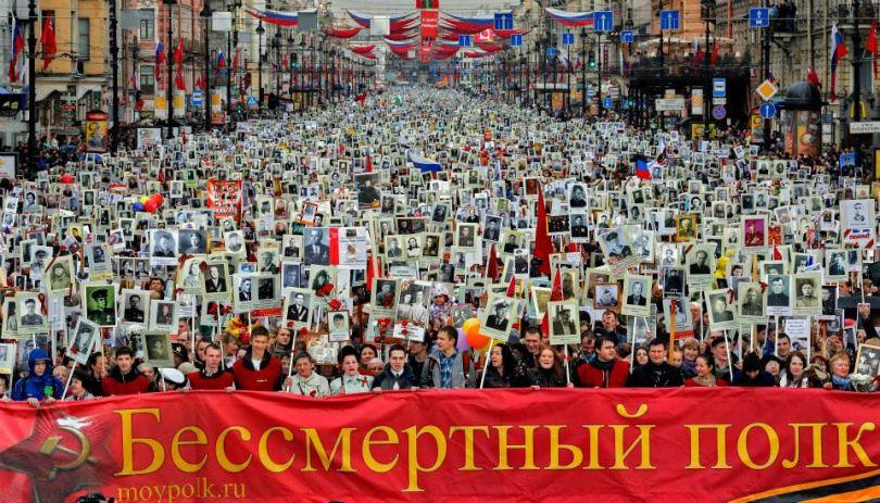 Шествие Бессмертного полка в Санкт-Петербурге стартует 9 мая 2018 года в 15 часов