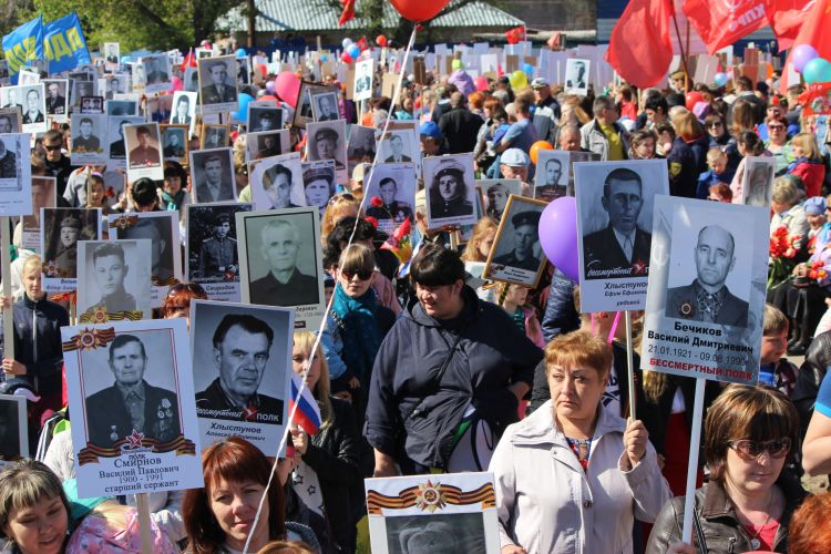 Время и место сбора Бессмертного полка в Рубцовске 9 мая 2018 года