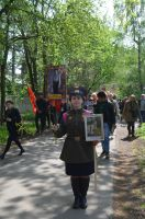 2019 г. 9 мая, Звягино (г. Пушкино), БЕССМЕРТНЫЙ ПОЛК в Звягино - река гордости, грусти, радости, любви.
