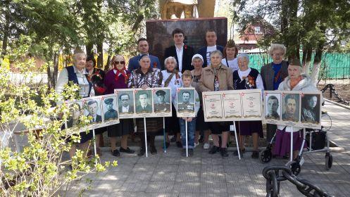 2015. 8 мая у памятника в с.Звягино Пушкинского р-на на штендерах все наши самые близкие родные