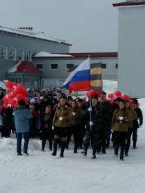 Бессмертный полк в Снежногорске