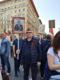 Были сегодня каширяне и на шествии Бессмертного полка в Москве - на фото Сергей Майоров