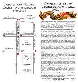 Схема движения Полка