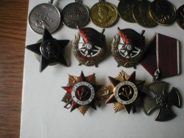 Орден Отечественной войны 1-й степени (2 ордена: №178987 и №518466)